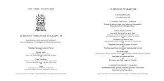 Apercu de la carte Carte Brunch