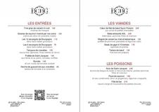 Apercu de la carte Carte Restaurant Été 2018