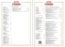 Apercu de la carte Carte Brasserie